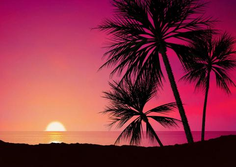 Dusk of tropical country 01