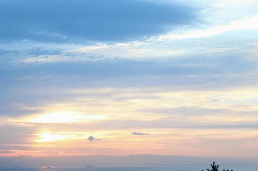 Morning glow sky