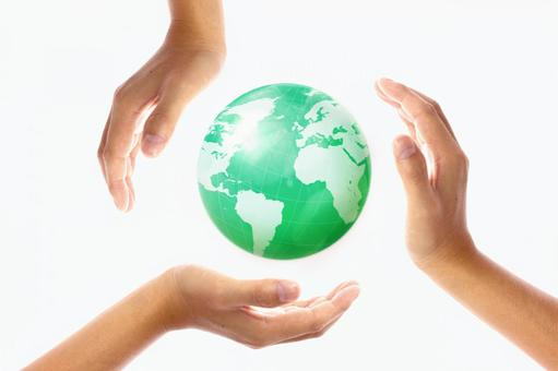 Hand and globe 5
