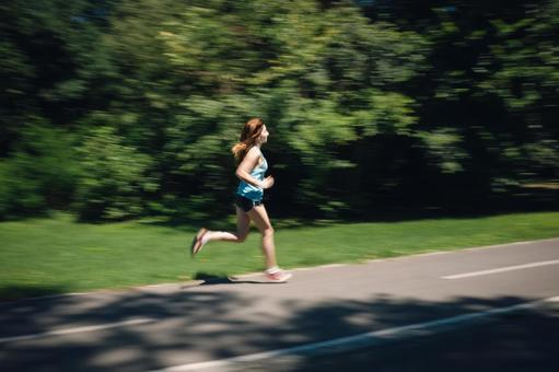 Female to jog at the park 26