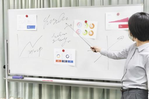 Lecturer holding a seminar