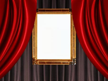 背景和帧照片(窗帘13)