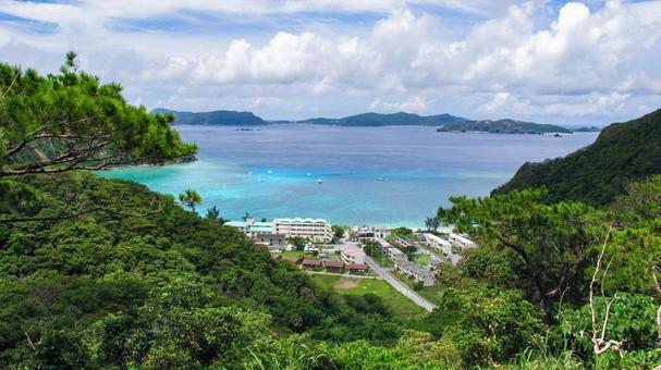 라든지 시구 비치 오키나와 토카 시키 섬