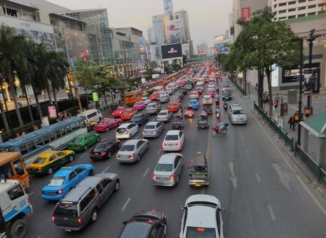 태국 방콕 정체