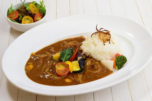 Vegetable curry salad set