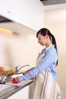 요리를하는 여자 3