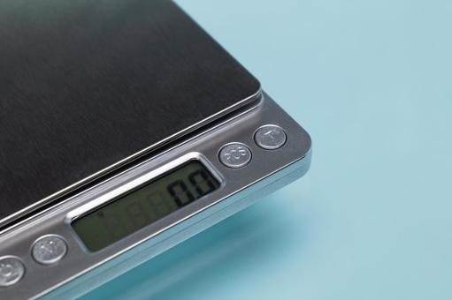 Kitchen scale close-up