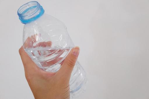 PET bottles and hands
