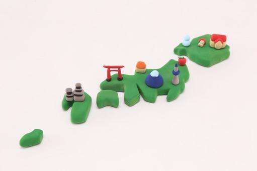 Clay art Japan Map 6