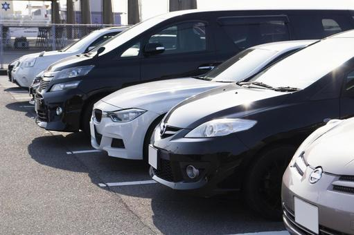 Flat parking lot
