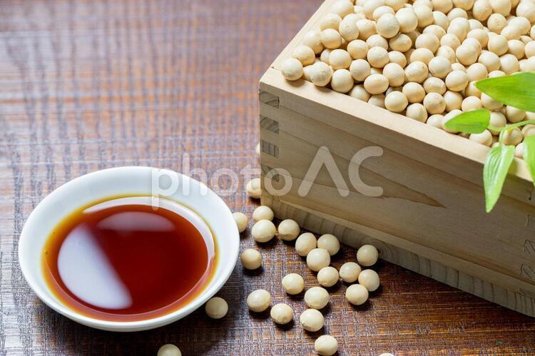醤油と大豆の写真