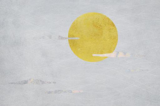 Golden full moon_sky_background_texture