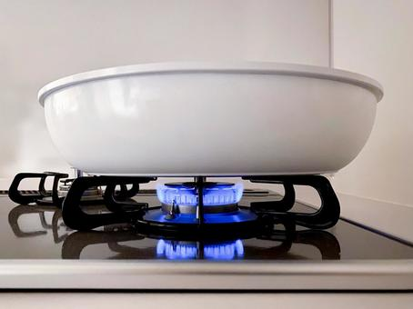 Gas stove fire (melting fire)