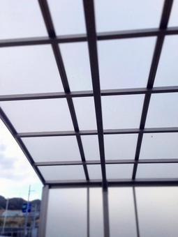 Roof of parking space