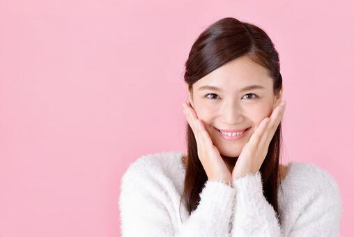 미소의 여성 8