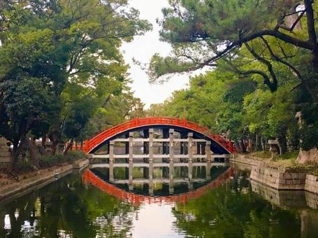 스 미요시 타이 샤의 홍예 다리