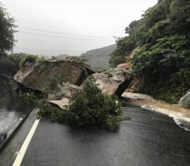 可記錄的大雨造成的山體滑坡