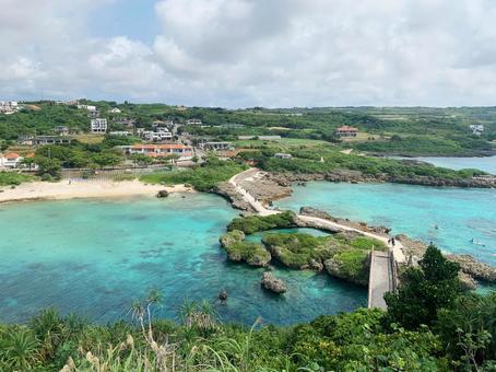 오키나와 미야코 섬 인갸 다리 전망대 전망