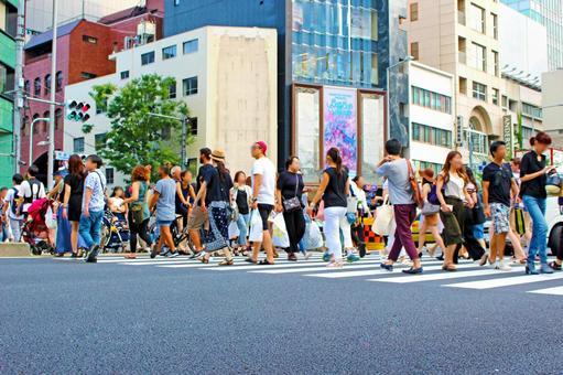 Omotesando intersection pedestrian