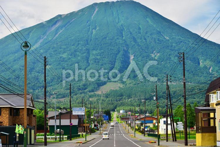 夏の羊蹄山(横)の写真
