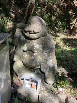 Seven Lucky Gods Budai stone statue