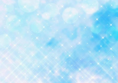 Cross filter style glitter and bokeh Watercolor style background material (light blue)