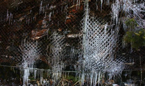 철망과 얼음의 예술