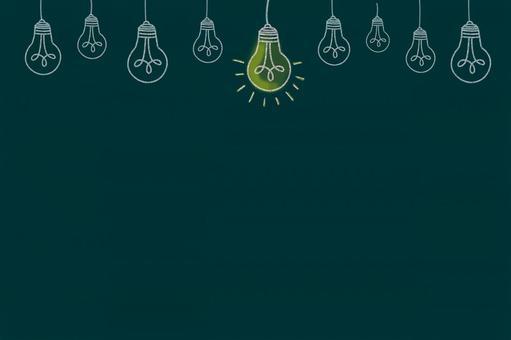 Light bulb illustration 2 on blackboard