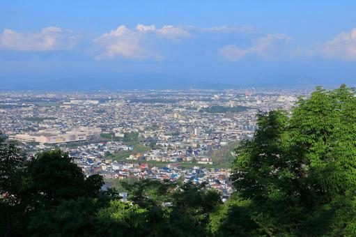 View from Arashiyama Observatory in Asahikawa City View east side