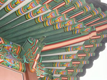 韓國宮殿屋頂