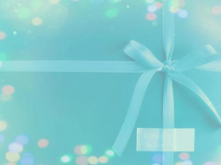 Present gift box wrapping