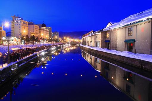 Otaru Canal of Magic Hour