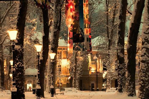 Winter night city 5