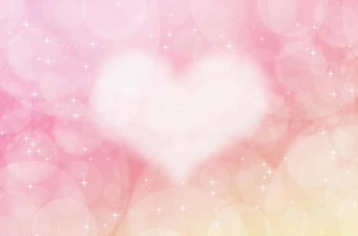 Fantastic pastel heart background_abstract texture with watercolor touch_red / yellow