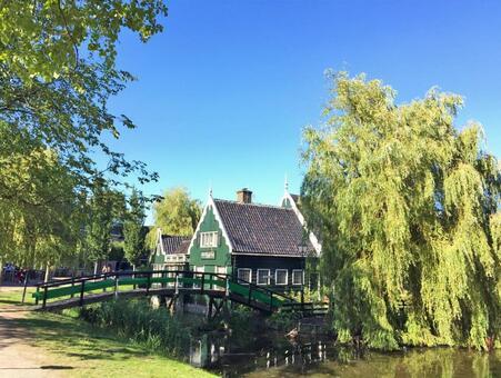 유럽 운하 유역의 집, 잔세 · 스칸스, 암스테르담, 네덜란드,