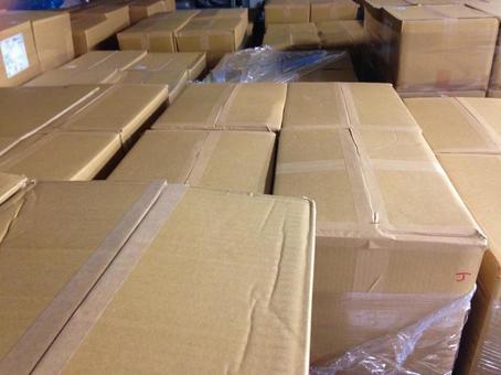 Warehouse cardboard