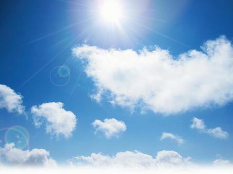 Fluffy cloud sky 60