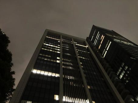 Skyscraper landscape photo at night _k_06