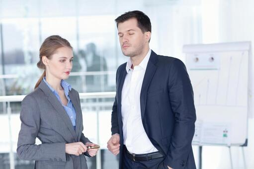 Businessman and business woman 3