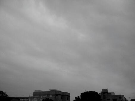 흑백 하늘