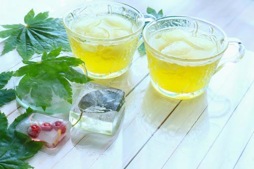 Ice green tea summer tea time