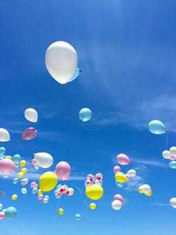 Balloons and sky 2