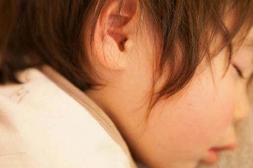 Child taking a nap