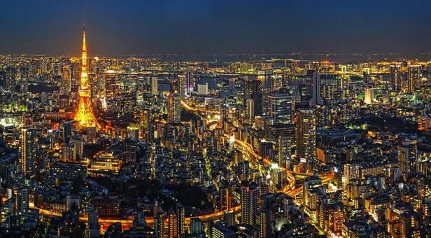 Night view of Minato-ku, Tokyo