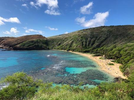 Beautiful scenery of Hawaii Sea overseas image