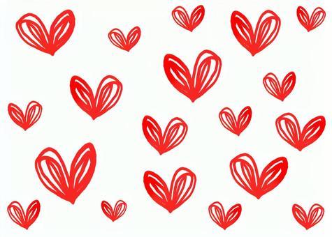 Hand drawn heart background transparent