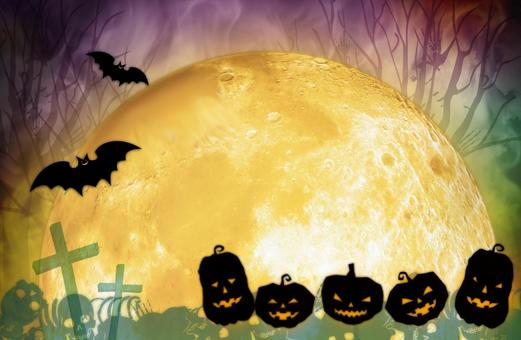 Halloween_full moon_background material
