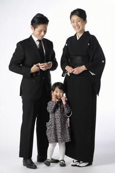 Family in formal appearance 3