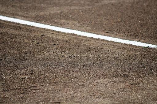 White line and ballpark soil