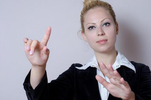 Business style female gesturing 6